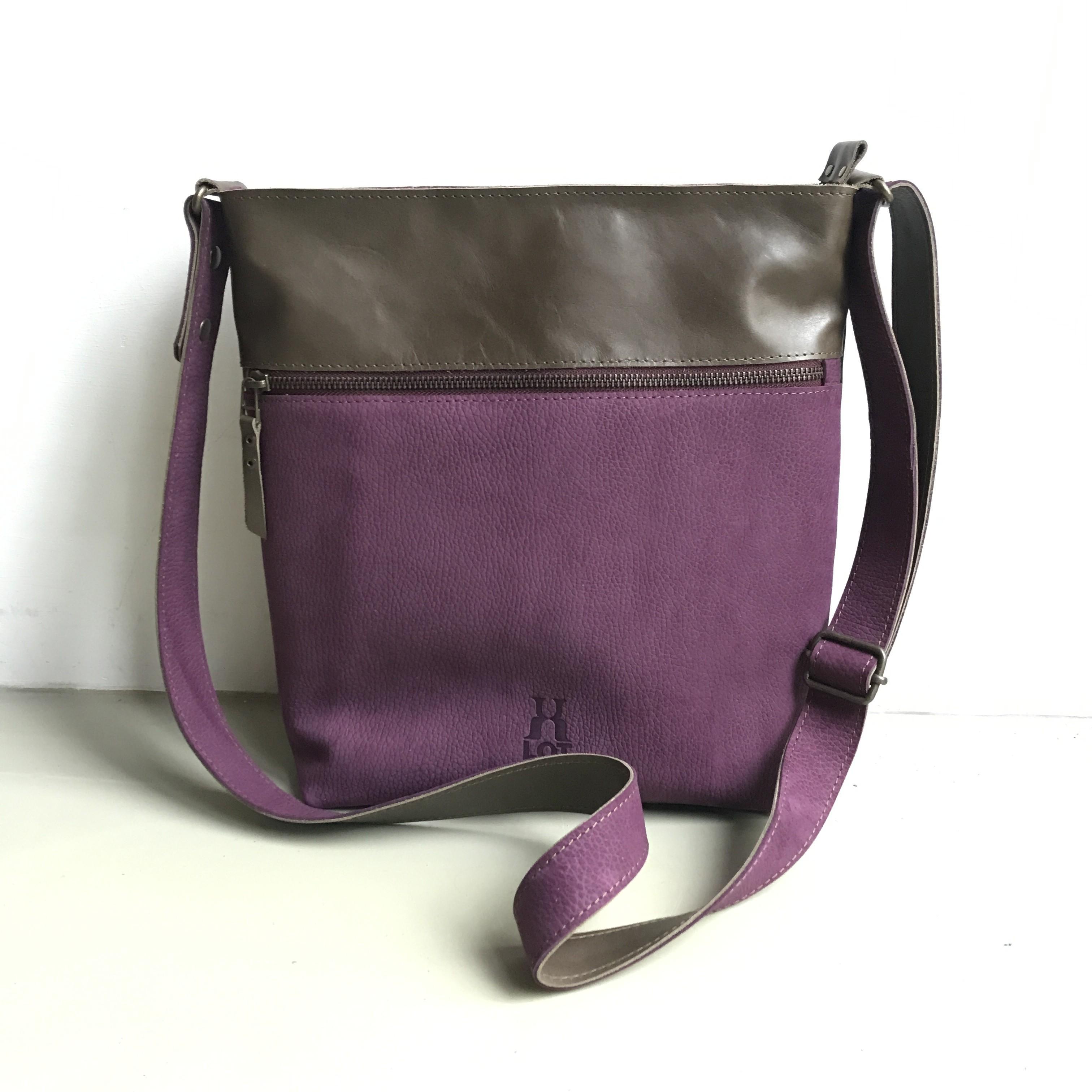 270aebf1a76 shopper SAMMY paars / donkergroen - Lot tassen